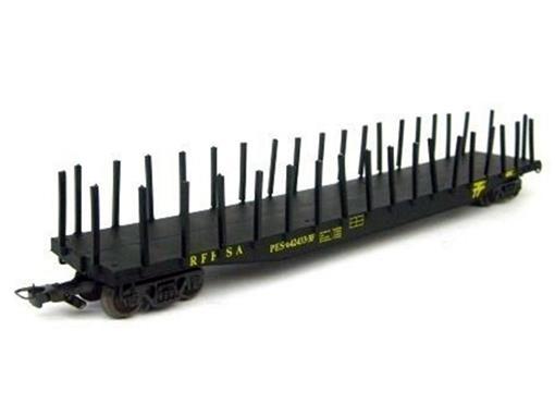 Vagão Plataforma PES (642433-3F) RFFSA - HO - Frateschi