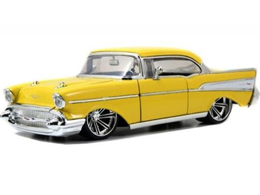 Chevrolet: Bel Air (1957) Amarelo - Jada - 1:24