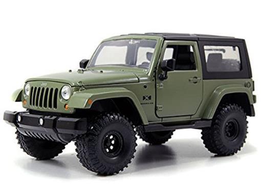 Jeep: Wrangler - Off Road (2007) - Verde - Jada - 1:24