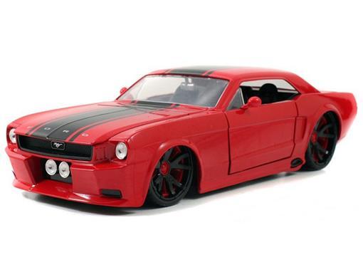 Ford: Mustang (1965) - Vermelho - Jada - 1:24