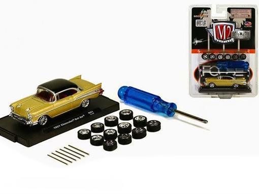 Chevrolet: Bel Air (1957) c/ Rodas - M2 Machines - 1:64