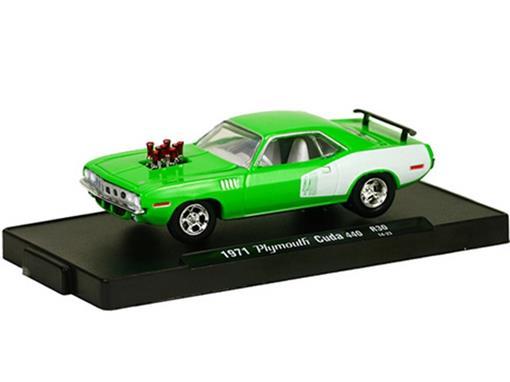 Plymouth: Cuda 440 (1971) Verde - M2 Machines - 1:64