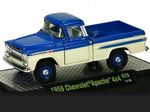 Chevrolet: Apache 4x4 (1959) Auto-Trucks - Azul - M2 Machines - 1:64