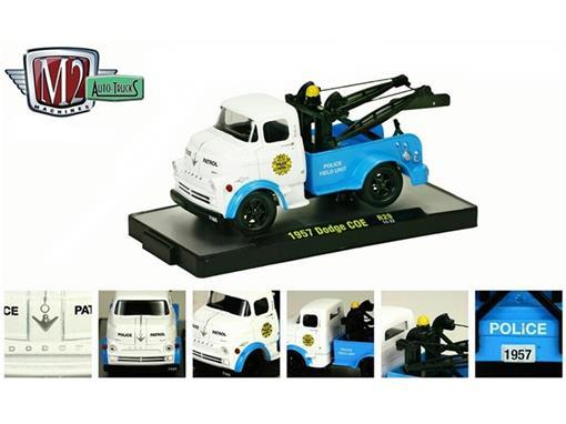 Dodge: COE (1957) Auto-Trucks - Azul/Branco - M2 Machines - 1:64