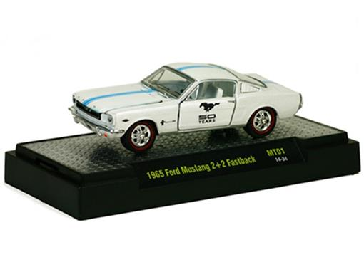 Ford: Mustang 2+2 Fastback (1965) Branco - M2 Machines - 1:64