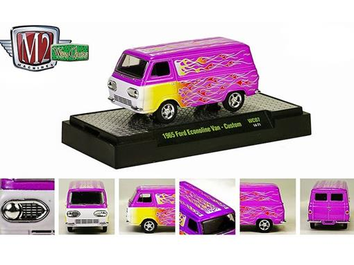 Ford: Econoline Van Custom (1965) Roxo - M2 Machines - 1:64