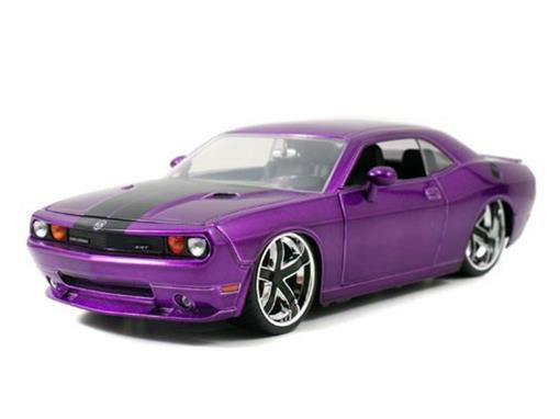 Dodge: Challenger SRT8 (2008) - Roxo - 1:24 - Jada