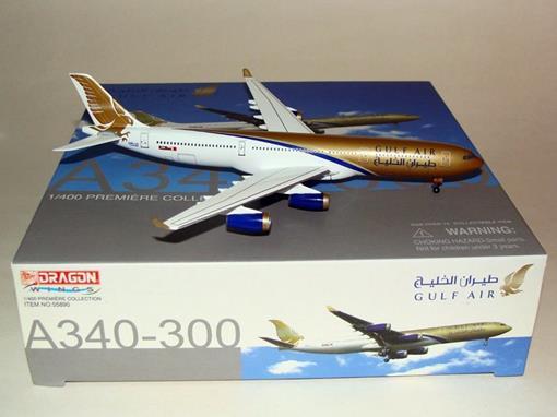 Gulf Air: Airbus A340-300 - Dragon Wings - 1:400