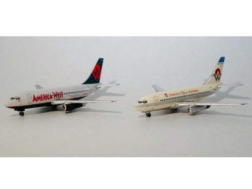 Set: America West Airlines - c/ 2 Boeing's 737-200 - Gemini Jets - 1:400