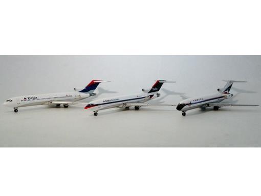 Delta: Boeing 727-200 (3 Pack) - Gemini Jets - 1:400