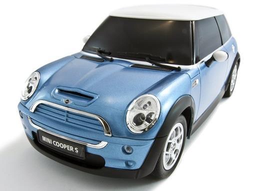 Mini Cooper: S - Azul - Controle Remoto - 1:14 - Rastar