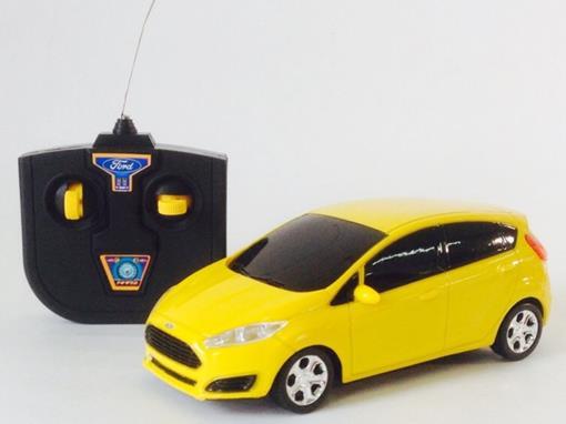 Ford: Fiesta - Controle Remoto - Amarelo - 1:24
