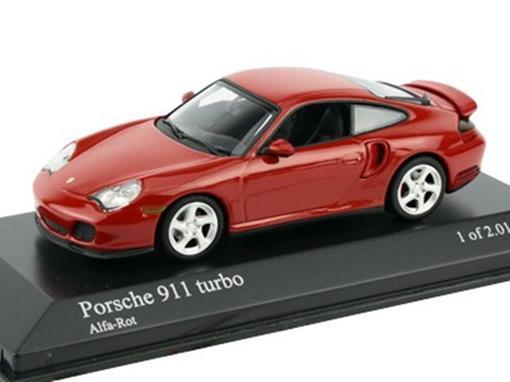Porsche: 911 Turbo (1999) Vermelho - 1:43 - Minichamps