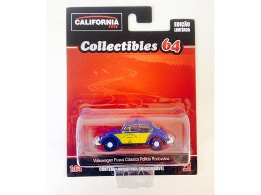 Volkswagen: Fusca Clássico Polícia Rodoviária - California Toys - 1:64 - Greenlight