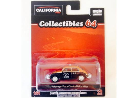 Volkswagen: Fusca Clássico Polícia Militar SP - California Toys - 1:64 - Greenlight