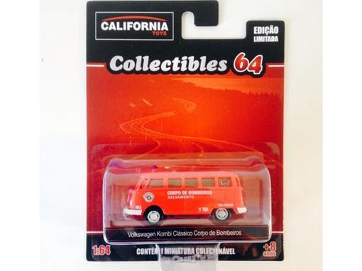 Volkswagen: Kombi Clássico Corpo de Bombeiros - California Toys - 1:64 - Greenlight