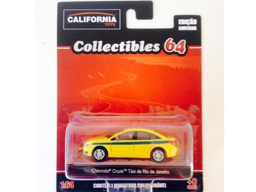 Chevrolet: Cruze Táxi de Rio de Janeiro - California Toys - 1:64 - Greenlight