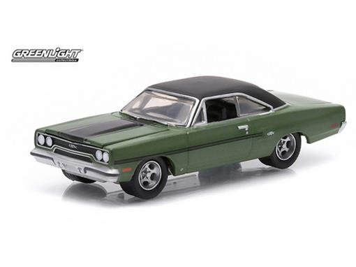 Plymouth: GTX (1970) - Verde - GL Muscle - Série 12 - 1:64 - Greenlight