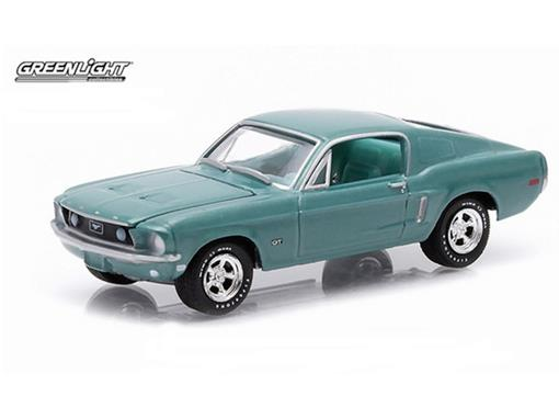 Ford: Mustang GT (1968) - Verde - GL Muscle - Série 12 - 1:64 - Greenlight