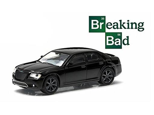 Chrysler: 300C SRT8 (2012) - Breaking Bad - Hollywood - Série 9 - Preto - 1:64 - Greenlight