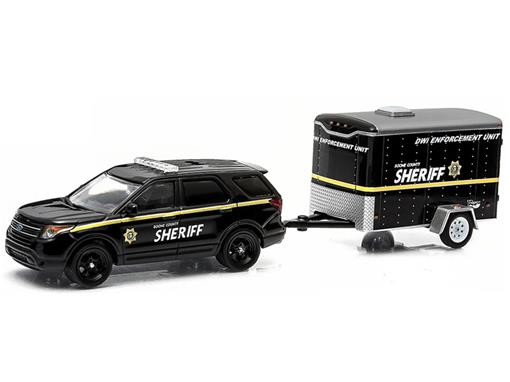 Ford: Interceptor Utility c/ Trailer (2014) - 1:64 - Greenlight