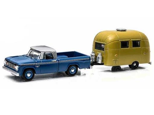 Dodge: D-100 c/ Airstrem 16 Bambi (1966) - 1:64 - Greenlight