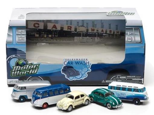 Set Volkswagen Car Wash - Motor World - 1:64 - Greenlight