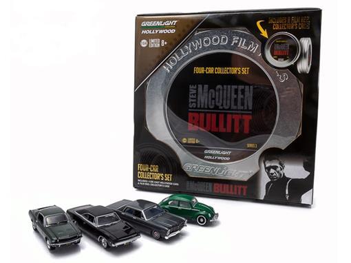Four Car Collectors Set - Esteve McQueen Bullitt - Series 3 - 1:64 - Greenlight