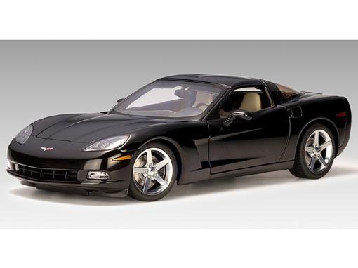 Chevrolet: Corvette C6 Coupe (2005) - Preto - 1:18 - Autoart
