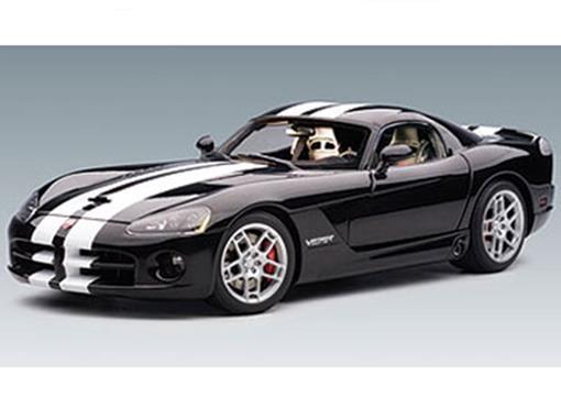 Dodge: Viper SRT-10 Coupe (2006) - Preto - 1:18 - Autoart
