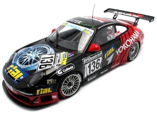 Porsche: 911 (996) GT3 RSR - Yokohama #136 (2005) - 1:18 - Autoart