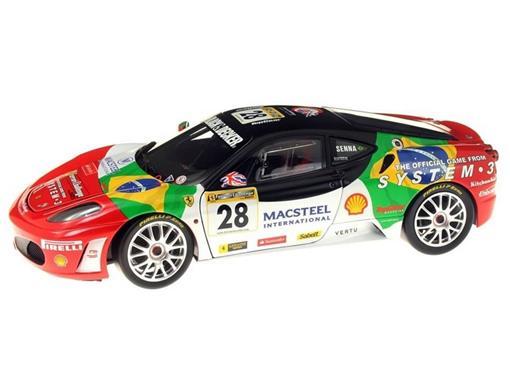 Ferrari: F430 Challenge #28 - Driver Bruno Senna - 1:18 - Hot Wheels Elite