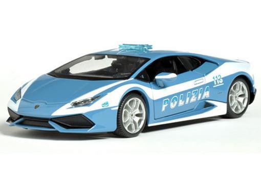 Lamborghini: Huracán LP610-4 Polizia - Azul - 1:24 - Maisto