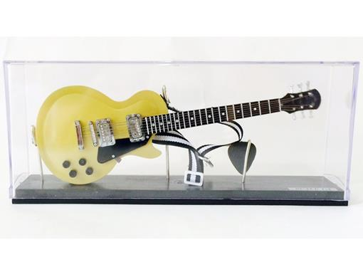 Miniatura de Guitarra Les Paul (Dourada) - Acrílico - 1:4
