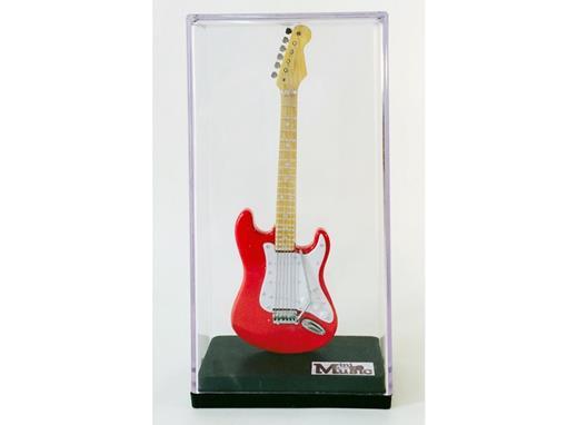 Miniatura de Guitarra Stratocaster - Vermelha (Acrílico) - 12 cm