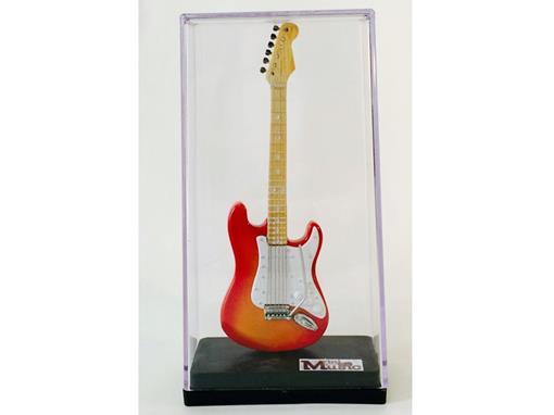 Miniatura de Guitarra Stratocaster - Cereja (Acrílico) - 12 cm