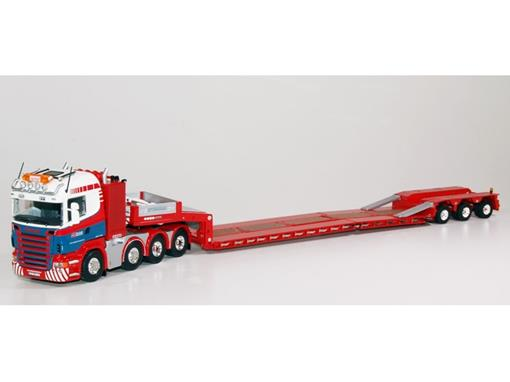 Scania: R-Serie Highline Lowloader - Spiegl Transport - 1:50 - Tekno