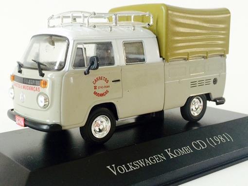 Volkswagen: Kombi CD (1981) - Creme e Branco - 1:43 - Ixo