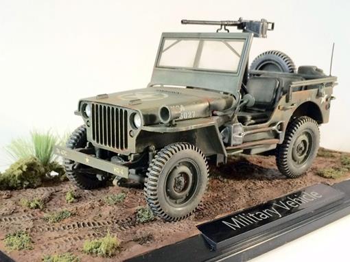 Diorama Jeep Military Vehicle US Army (1942) -