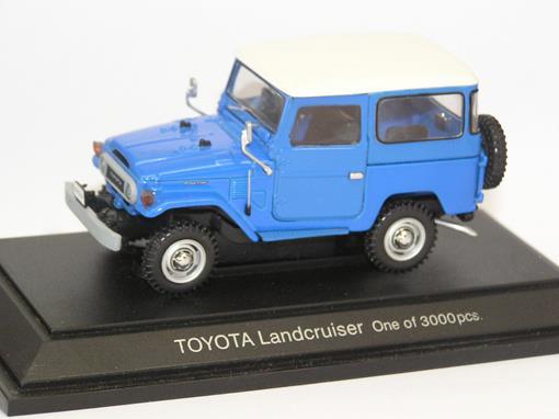 Toyota: Landcruiser FJ40V - Azul e Branco - 1:43 - Ebbro