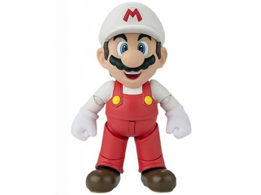 Boneco Fire Mario - Super Mario Bros - S.H.Figuarts - Bandai