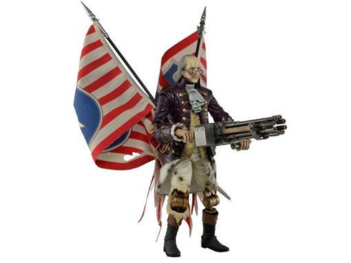 Boneco Benjamin Franklin - Bioshock Infinite - Neca