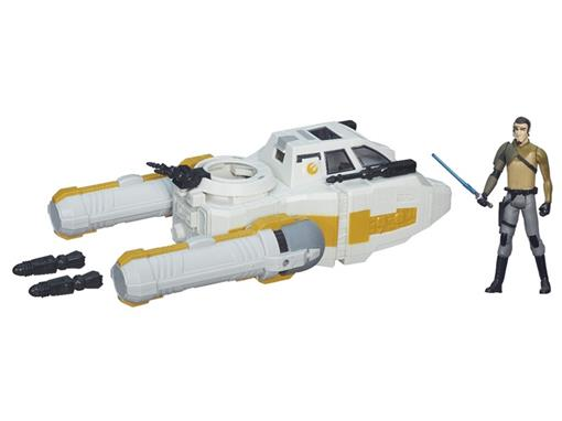 Veículo Star Wars Class I Deluxe Y-wing Scout Bomber + Kanan Jarrus - Hasbro