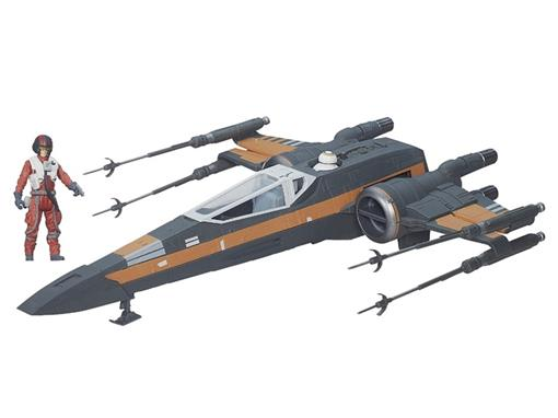 Veículo Star Wars Class III Poes X-wing T-70 Fighter + Poe Dameron - Hasbro