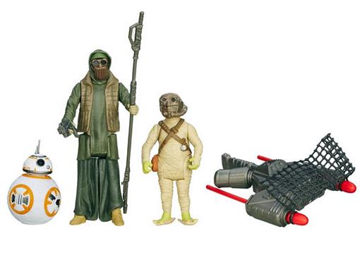 Pack c/ 3 Bonecos - Star Wars The Force Awakens - BB-8 Unkars Thug/ Jakku Scavenger - Hasbro