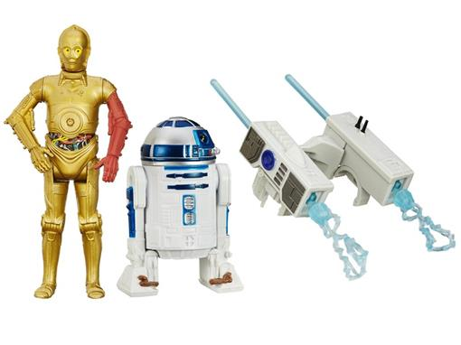 Pack c/ 2 Bonecos - Star Wars The Force Awakens - R2-D2/ C-3PO - Hasbro