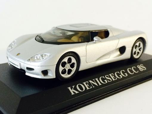 Koenigsegg: CC 8S - Prata - 1:43 - Altaya