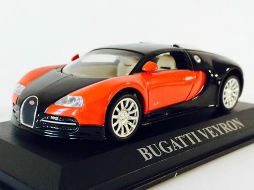Bugatti: Veyron - Preto / Vermelho - 1:43 - Altaya