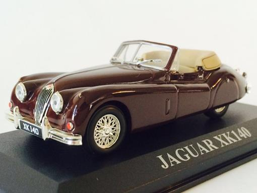 Jaguar: XK140 - Marrom - Altaya - 1:43