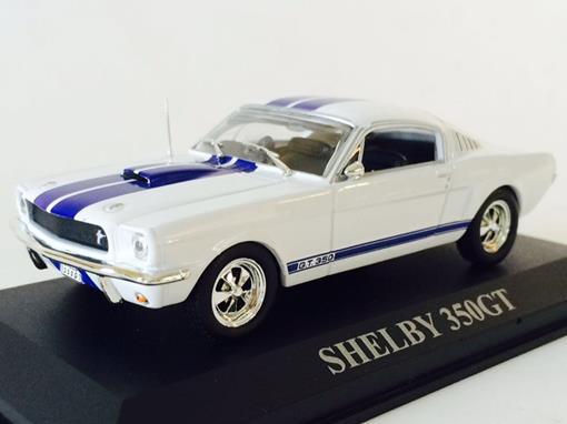 Ford: Shelby 350GT - Branco e Azul - Altaya - 1:43